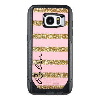Glitz Gold and Pink Otterbox Samsung S7 Edge Case