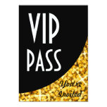 "Glitz Gold"" black curve ""VIP Pass"" invitation"