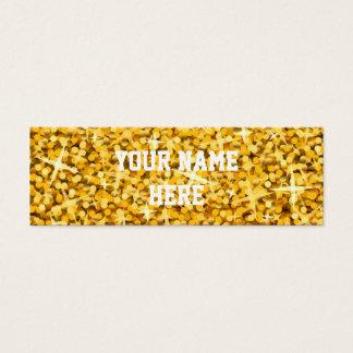 "Glitz ""Gold"" business card template skinny"
