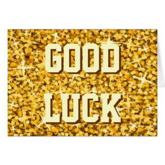 """Glitz """"Gold"""" 'Good Luck' card"""