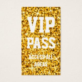 """Glitz """"Gold"""" 'VIP PASS' business card"""