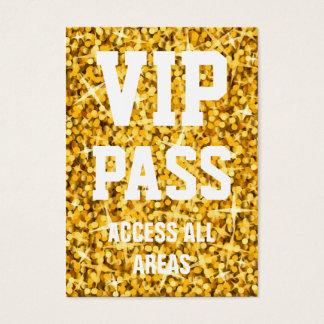 "Glitz ""Gold"" 'VIP PASS' business card chubby"