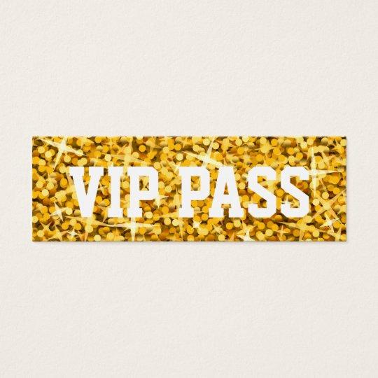 "Glitz ""Gold"" 'VIP PASS' business card skinny"