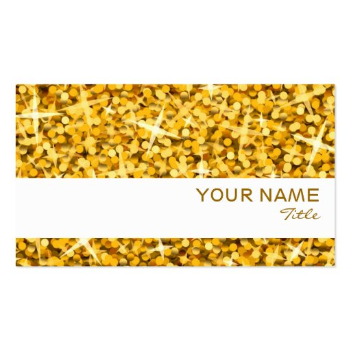 "Glitz ""Gold"" white stripe business card template"
