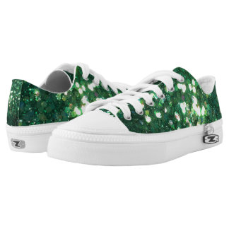 Glitz Green Holiday Sneakers Shoes Glitter!