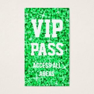 Glitz Green 'VIP PASS' business card
