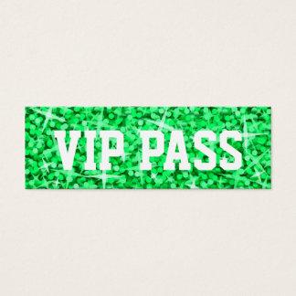 Glitz Green 'VIP PASS' business card skinny