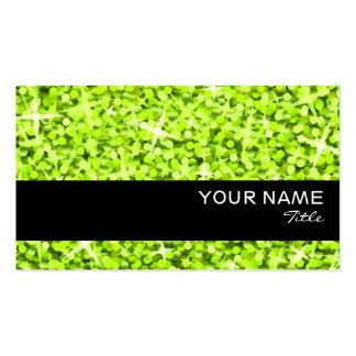 Glitz Lime black stripe business card template
