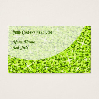 Glitz Lime Curve business card template