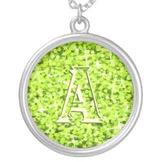 Glitz Lime 'monogram' necklace