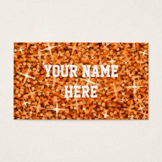 Glitz Orange business card template