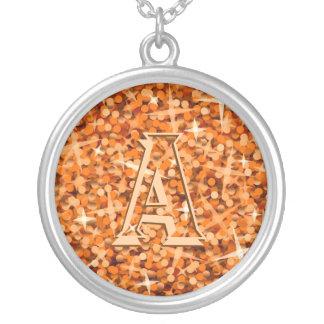 Glitz Orange 'monogram' necklace