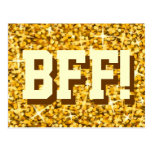 "Glitz ""oro"" ""BFF!"" postal"