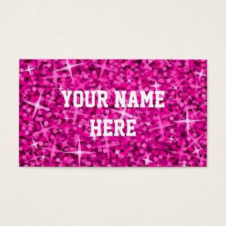 Glitz Pink business card template