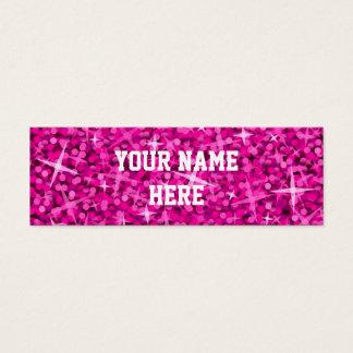 Glitz Pink business card template skinny