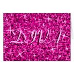 Glitz Pink 'DIVA' 'Happy Birthday' card
