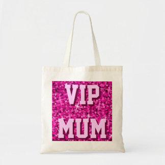 Glitz Pink 'VIP MUM' tote bag