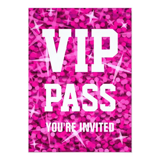 Special Occasions Invitations Announcements – Vip Pass Template Free