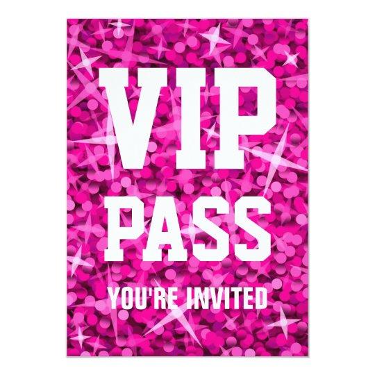 vip pass invitations  announcements  zazzle, party invitations