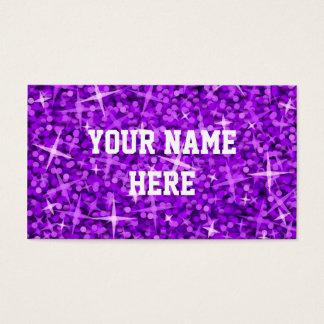 Glitz Purple business card template