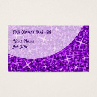 Glitz Purple Curve business card template