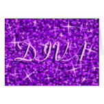 Glitz Purple 'DIVA' 'Happy Birthday' card
