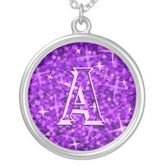 Glitz Purple 'monogram' necklace