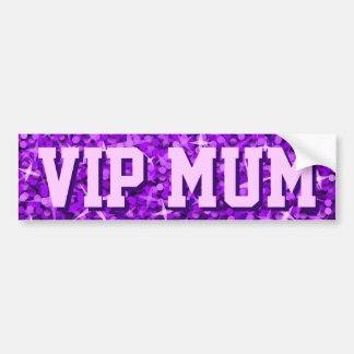 Glitz Purple 'VIP MUM' bumper sticker