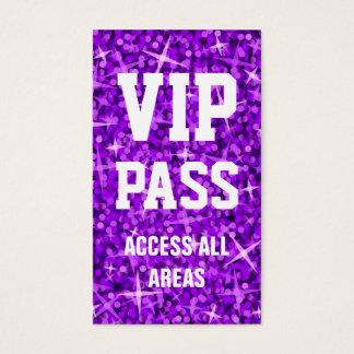Glitz Purple 'VIP PASS' business card