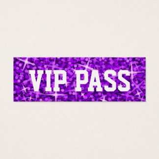 Glitz Purple 'VIP PASS' business card skinny