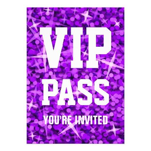 Personalized Vip Invitations – Free Vip Pass Template
