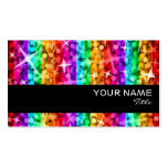 Glitz Rainbow Stripe  business card black stripe