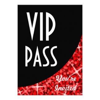 Glitz Red black curve VIP Pass invitation