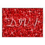 Glitz Red 'DIVA' 'Happy Birthday' card