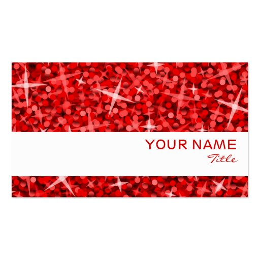 Glitz Red white stripe business card template