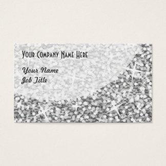 "Glitz ""Silver"" Curve business card template"