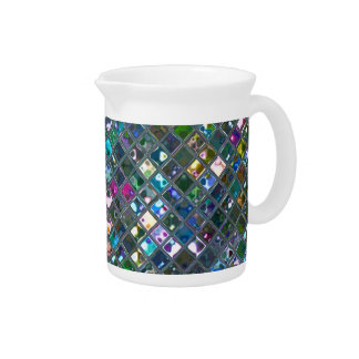 Glitz Tiles Multicoloured 2 print pitcher