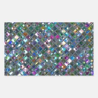 Glitz Tiles Multicoloured 2 print rectangle Rectangular Sticker