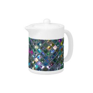Glitz Tiles Multicoloured 2 print teapot