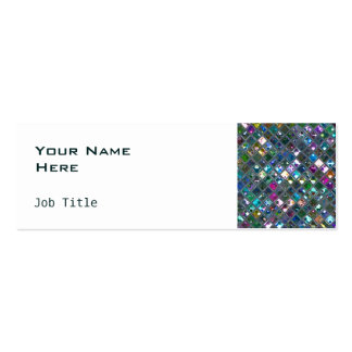 Glitz Tiles Multicoloured 2 side skinny white Double-Sided Mini Business Cards (Pack Of 20)