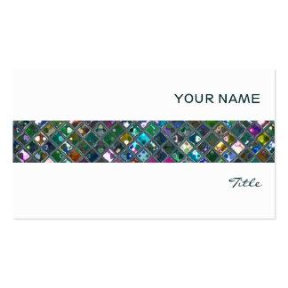Glitz Tiles Multicoloured 2 tile stripe white Business Card Templates