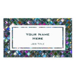 Glitz Tiles Multicoloured 2 white rectangle Double-Sided Standard Business Cards (Pack Of 100)