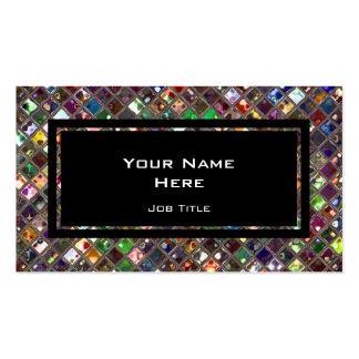 Glitz Tiles Multicoloured black rectangle Business Card