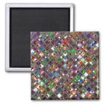 Glitz Tiles Multicoloured print magnet square