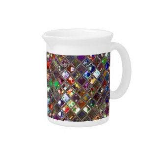 Glitz Tiles Multicoloured print pitcher