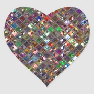 Glitz Tiles Multicoloured print sticker heart