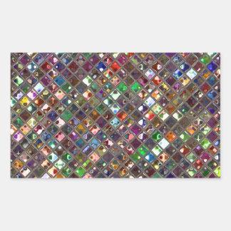 Glitz Tiles Multicoloured print sticker rectangle