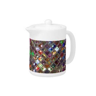 Glitz Tiles Multicoloured print teapot