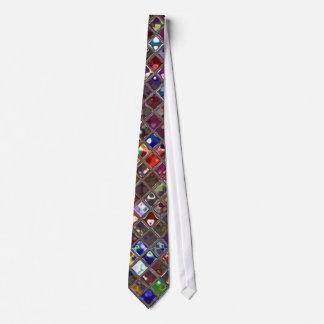 Glitz Tiles Multicoloured print tie