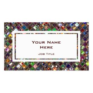 Glitz Tiles Multicoloured white rectangle Business Card